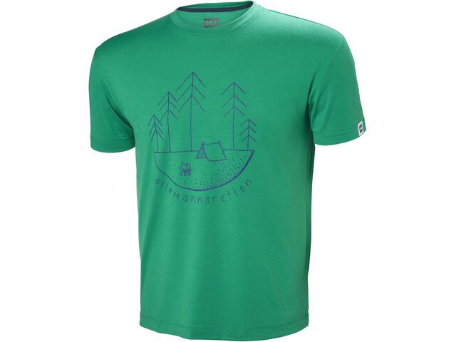 Helly Hansen Skog Graphic T-shirt Herr pepper green